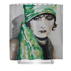 Greta Garbo Shower Curtain by Chrisann Ellis