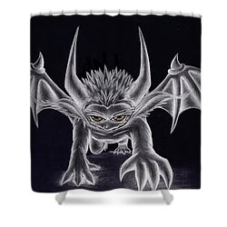 Grevil Silvered Shower Curtain by Shawn Dall