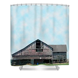 Shower Curtain featuring the photograph Grey Barn by Gena Weiser