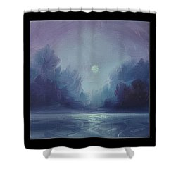Grey Fire V Shower Curtain by James Christopher Hill