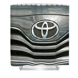 Grey Toyota Grill And Emblem Smile Shower Curtain