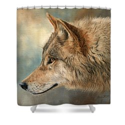 Grey Wolf 3 Shower Curtain