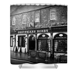 Greyfriars Bobby In Edinburgh Scotland  Shower Curtain
