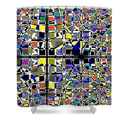 Grid Shower Curtain by Barbara Moignard