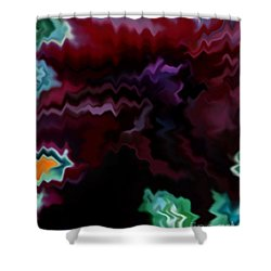 Shower Curtain featuring the mixed media Grief by Patricia Griffin Brett