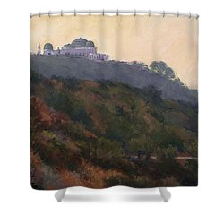 Griffith Park Observatory- Late Morning Shower Curtain