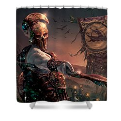 Grim Guardian Shower Curtain