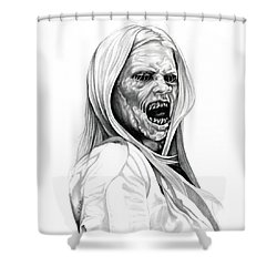 Grimm Hexenbiest Shower Curtain by Fred Larucci