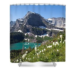 Grinnell Lake With Beargrass Shower Curtain