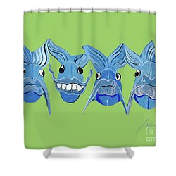 Grinning Fish Shower Curtain