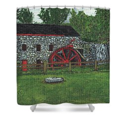 Grist Mill At Wayside Inn Shower Curtain by Cliff Wilson