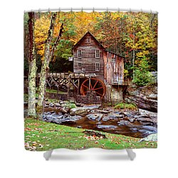 Grist Mill In Babcock St. Park Shower Curtain