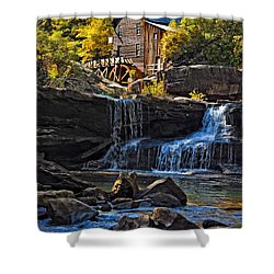 Grist Mill In Babcock State Park West Virginia Shower Curtain by Kathleen K Parker