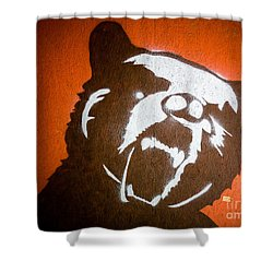 Grizzly Bear Graffiti Shower Curtain by Edward Fielding