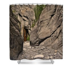 Grotto Canyon Fractal Shower Curtain