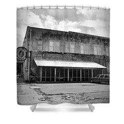 Ground Zero Black And White Shower Curtain