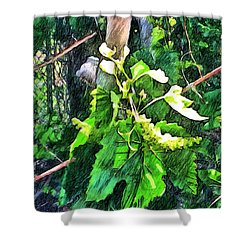 Grow Positively Shower Curtain