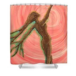 Growing Pulse Shower Curtain