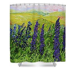 Growing Tall Shower Curtain by Allan P Friedlander