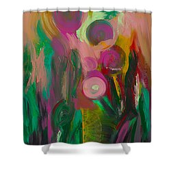 Growing Together Shower Curtain by Donna Blackhall