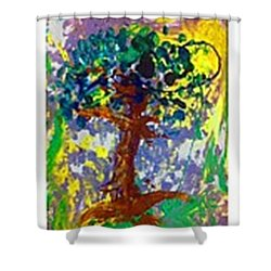 Growth Shower Curtain by Luz Elena Aponte