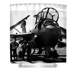 Grumman Ea-6b Prowler B-w Shower Curtain