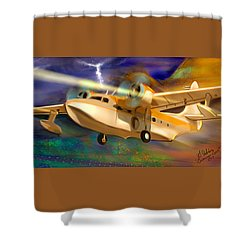 Grumman Goose Shower Curtain by Gerry Robins