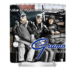 Grumman Test Pilots Shower Curtain