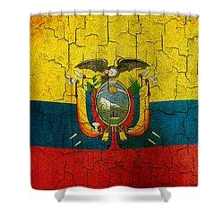 Grunge Ecuador Flag Shower Curtain