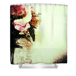 Grunge Flowers Shower Curtain