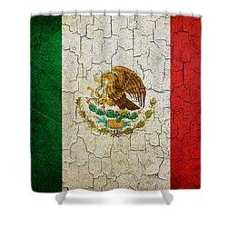 Grunge Mexico Flag Shower Curtain