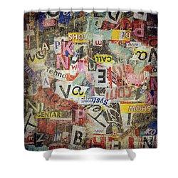 Grunge Textured Background Shower Curtain