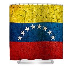 Grunge Venezuela Flag Shower Curtain
