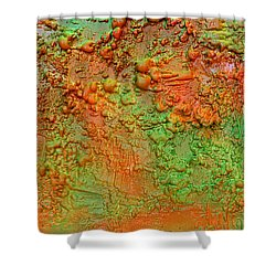 Orange Abstract New Media  Shower Curtain