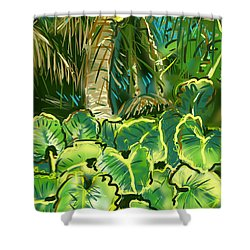 Guanabana Tropical Shower Curtain by Jean Pacheco Ravinski