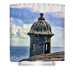 Guard Tower At El Morro Shower Curtain