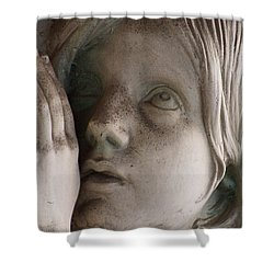 Guardian Angel With Praying Hands Shower Curtain
