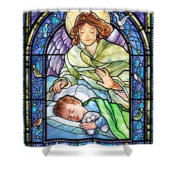 Guardian Angel With Sleeping Boy Shower Curtain