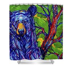 Guardian Bear Shower Curtain by Derrick Higgins