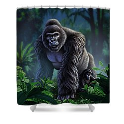 Guardian Shower Curtain by Jerry LoFaro