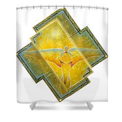 Guardian Of Light Shower Curtain