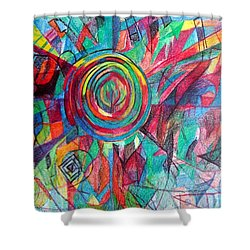 Guardian Of The Faith Shower Curtain by David Baruch Wolk