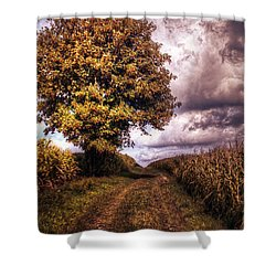 Guardian Of The Field Shower Curtain by Daniel Heine