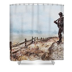 Guardian Of The Fields Shower Curtain
