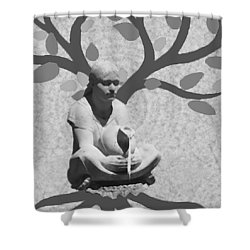 Shower Curtain featuring the photograph Guardian Of The Tree Of Life by I'ina Van Lawick