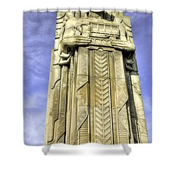 Guardian Of Traffic - 5 Shower Curtain by David Bearden
