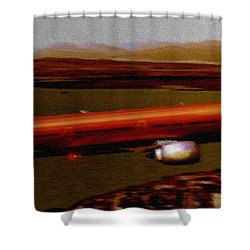 Guardian Over Seattle Shower Curtain by Marcello Cicchini