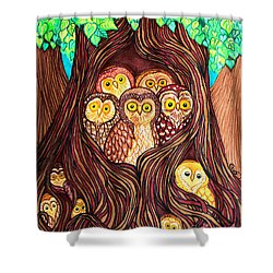 Guardians Of The Forest Shower Curtain by Nick Gustafson