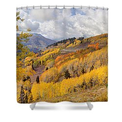 Guardsman Pass Aspen - Big Cottonwood Canyon - Utah Shower Curtain