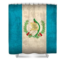 Guatemala Flag Vintage Distressed Finish Shower Curtain by Design Turnpike